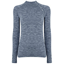 Buy Manuka Life Salutation Long Sleeve Yoga Top, Midnight Blue Marl Online at johnlewis.com