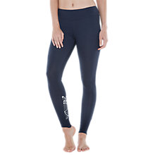 Buy M-Life Lotus Print Yoga Leggings, Midnight Blue Online at johnlewis.com