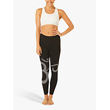 Buy M-Life Om Yoga Leggings, Black/White Online at johnlewis.com