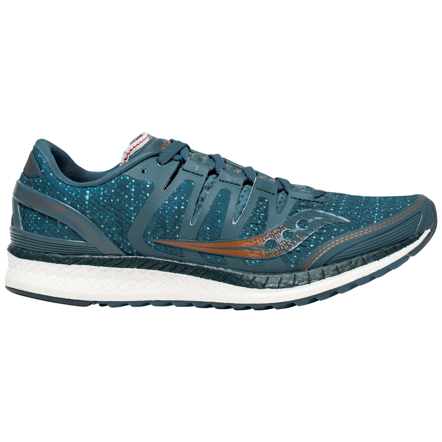 Saucony LIBERTY ISO - Stabilty running shoes - blue/denim/copper TX9U1