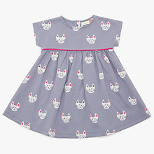 Buy John Lewis Baby Cat Face Dress, Grey Online at johnlewis.com