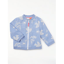 Buy John Lewis Baby Bird Embroidered Bomber Jacket, Navy Online at johnlewis.com