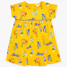 Buy John Lewis Baby Cats Dress, Yellow Online at johnlewis.com