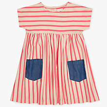 Buy John Lewis Baby Stripe Dress, Pink/Blue Online at johnlewis.com