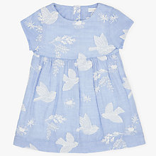 Buy John Lewis Baby Embroidered Chambray Dress, Blue/White Online at johnlewis.com