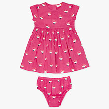 Buy John Lewis Baby Floral Dress and Knickers, Pink Online at johnlewis.com