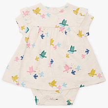 Buy John Lewis Baby Jersey Bird Print Dress, Multi Online at johnlewis.com
