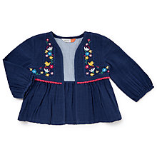 Buy John Lewis House Embellished Peplum Jacket, Blue Online at johnlewis.com