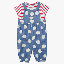 Buy John Lewis Baby Spot Dungarees and T-Shirt Set, Multi Online at johnlewis.com