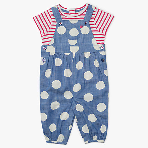 Buy john lewis baby spot dungarees and t shirt set multi john lewis buy john lewis baby spot dungarees and t shirt set multi online at johnlewis negle Image collections