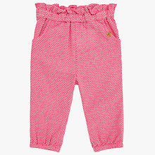 Buy John Lewis Baby House Woven Trousers, Pink Online at johnlewis.com