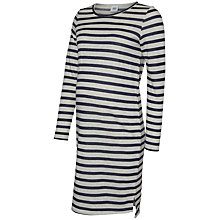 Buy Mamalicious Belinda Long Sleeve Maternity Nursing Dress, Navy/Grey Online at johnlewis.com