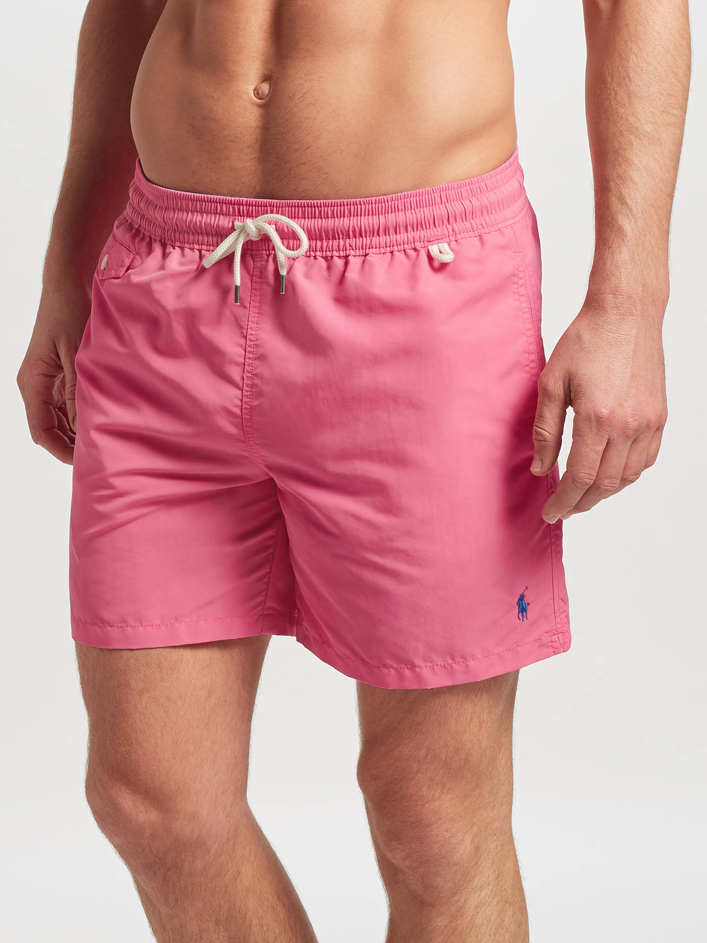 f0bae0a0d1 Buy Polo Ralph Lauren Traveller Swim Shorts, Chroma Pink, S Online at  johnlewis.