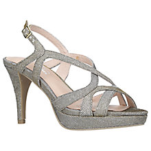 Buy Carvela Asha Multi Strap Cone Heeled Sandals, Metallic Online at johnlewis.com
