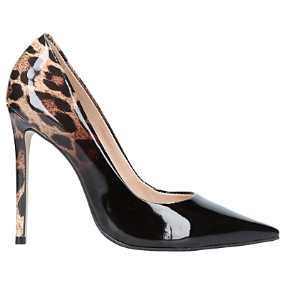 Carvela Alice Stiletto Heeled Court Shoes, Black/Leopard
