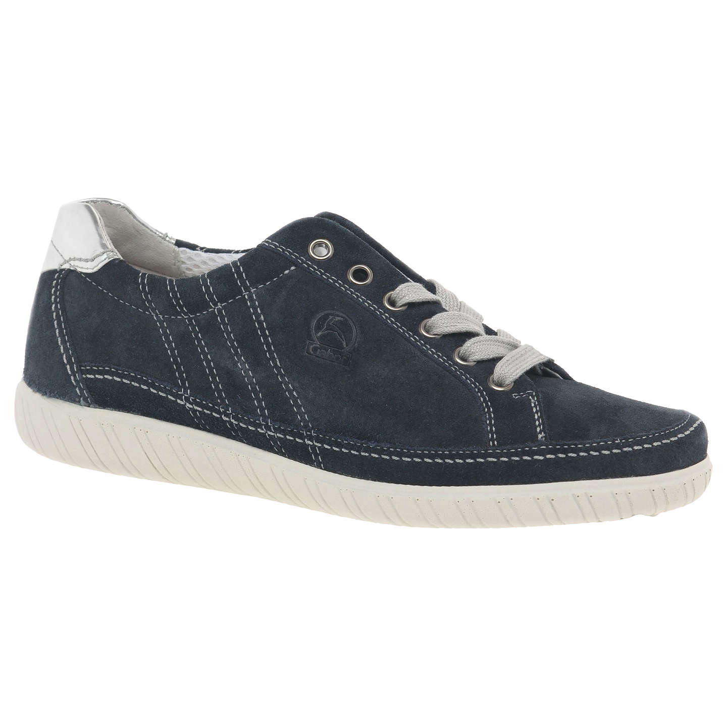 BuyGabor Amulet Wide Fit Lace Up Trainers, Ocean Suede, 3 Online at  johnlewis.