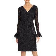 Buy Lauren Ralph Lauren Agnes Floral Lace Dress, Black Online at johnlewis.com