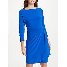 Buy Lauren Ralph Lauren Aletha Stretch Jersey Dress, Gallery Blue Online at johnlewis.com