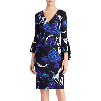 Lauren Ralph Lauren Blanette Floral Print Dress, Blue/Jardin Green