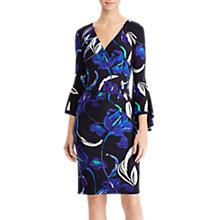 Buy Lauren Ralph Lauren Blanette Floral Print Dress, Blue/Jardin Green Online at johnlewis.com