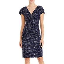 Buy Lauren Ralph Lauren Brisa Polka Dot Stretch Jersey Dress, Navy/Multi Online at johnlewis.com