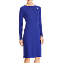 Buy Lauren Ralph Lauren Button Trim Cotton Dress, Empress Blue Online at johnlewis.com