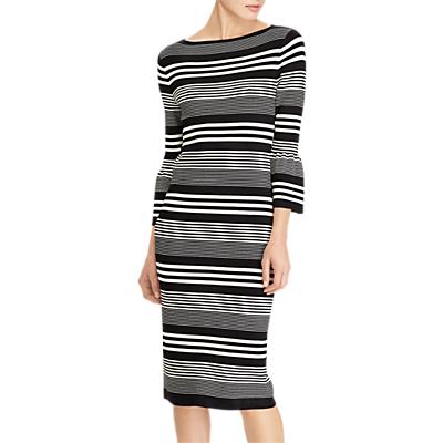 Lauren Ralph Lauren Fantini Stripe Dress, Polo Black/Mascarpone Cream