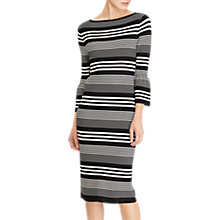 Buy Lauren Ralph Lauren Fantini Stripe Dress, Polo Black/Mascarpone Cream Online at johnlewis.com
