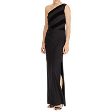 Buy Lauren Ralph Lauren Ethanette Sleeveless Evening Dress, Black Online at johnlewis.com