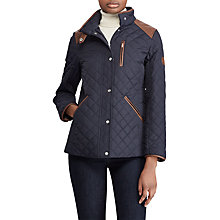 Buy Lauren Ralph Lauren Shoulder Patch Quilted Jacket, Dark Navy Online at johnlewis.com