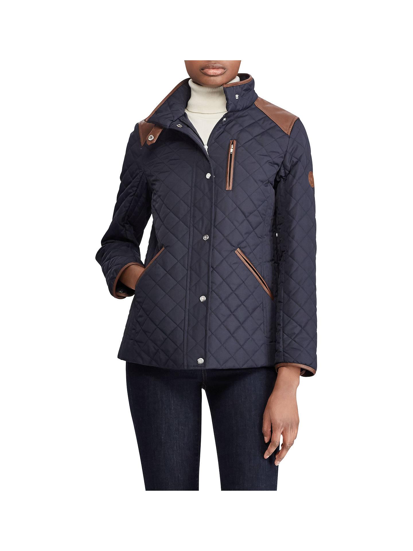 65fbeb42704f Lauren Ralph Lauren Shoulder Patch Quilted Jacket
