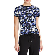 Buy Lauren Ralph Lauren Meilyr Floral Print Jersey Top, Multi Online at johnlewis.com