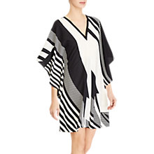 Buy Lauren Ralph Lauren Latesha Print Crepe Shift Dress, Black/Cream Online at johnlewis.com