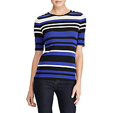 Buy Lauren Ralph Lauren Lei Stripe Jersey Top, Multi Online at johnlewis.com