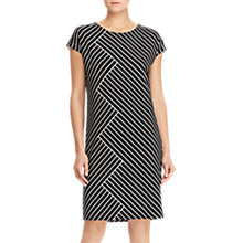 Buy Lauren Ralph Lauren Kolina Dress, Polo Black/Mascarpone Cream Online at johnlewis.com