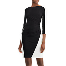 Buy Lauren Ralph Lauren Treva Dress, Black/Lauren White Online at johnlewis.com