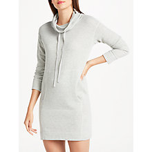 Buy Max Studio Long Sleeve Cowl Neck Dress, Light Grey Online at johnlewis.com