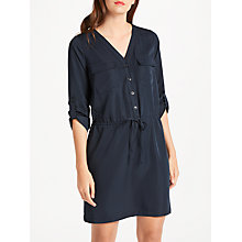 Buy Max Studio Drawstring Waist Shirt Dress, Dark Navy Online at johnlewis.com