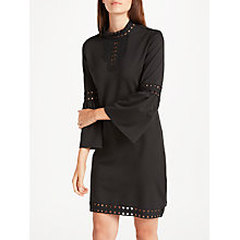 Buy Max Studio High Neck Cut Out Detail Ponte Dress, Black Online at johnlewis.com