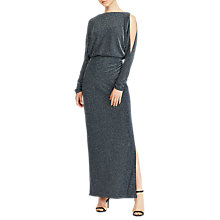 Buy Lauren Ralph Lauren Perina Dress, Navy/Silver Online at johnlewis.com