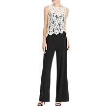 Buy Lauren Ralph Lauren Zakiya Jumpsuit, Black/Lauren White Online at johnlewis.com