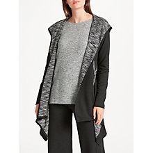 Buy Max Studio Hooded Jersey Cardigan, Black/Ecru Online at johnlewis.com
