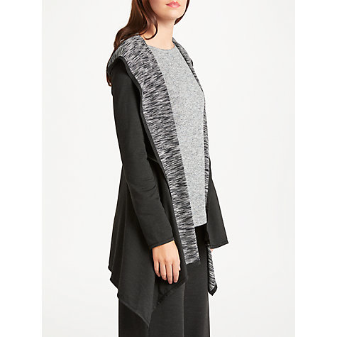 Buy Max Studio Hooded Jersey Cardigan, Black/Ecru | John Lewis