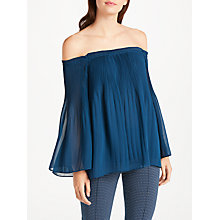 Buy Max Studio Off Shoulder Pleated Top Online at johnlewis.com