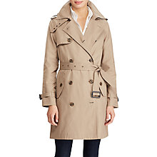 Buy Lauren Ralph Lauren Cotton Blend Trench Coat, Sand Online at johnlewis.com