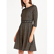 Buy Max Studio Abacus Dot Devore Dress, Black/Ecru Online at johnlewis.com