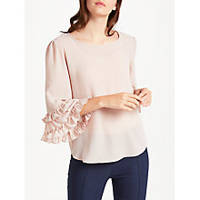Buy Max Studio Ruffle Sleeve Top, Pink Blush Online at johnlewis.com
