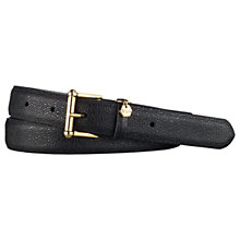 Buy Lauren Ralph Lauren Stingray Embossed Leather Belt, Black Online at johnlewis.com