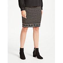 Buy Max Studio Abacus Dot Jersey Skirt, Black Online at johnlewis.com