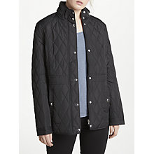 Buy Lauren Ralph Lauren Quilted Mockneck Coat, Black Online at johnlewis.com